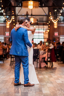 Very happy to enjoy their first dance together with  so much feelings of love for each other
