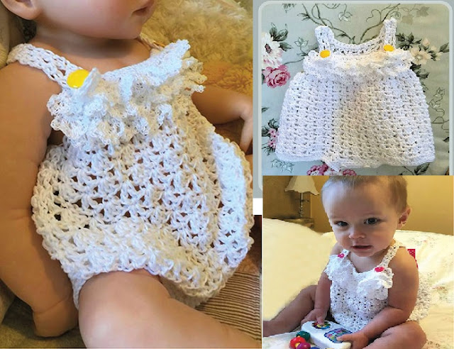 Summer Crochet Lace Romper Crochet Pattern For A Baby Girl