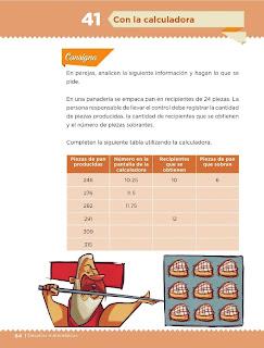 Apoyo Primaria Desafíos Matemáticos 5to. Grado Bloque III Lección 41 Con la calculadora