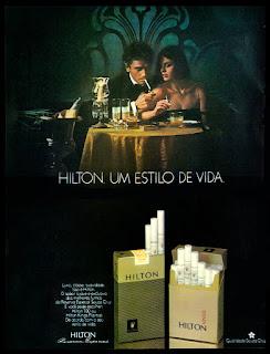 propaganda cigarros Hilton - 1977;propaganda anos 70; história decada de 70; reclame anos 70; propaganda cigarros anos 70; Brazil in the 70s; Oswaldo Hernandez;