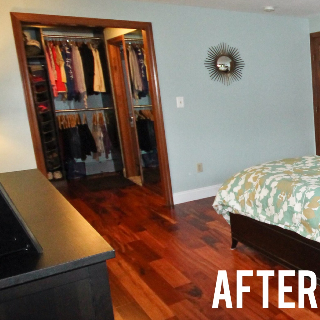 @jemstaa: Before and After: Master Bedroom Closet