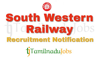 South Western Railway Recruitment notification 2018, govt jobs for ITI