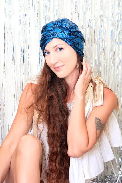 Mermaid Turban Hair Wrap by Mademoiselle Mermaid.