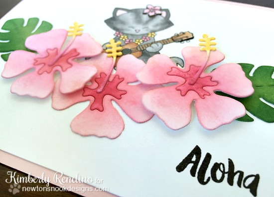 newton's nook designs | kimpletekreativity.blogspot.com | tropical | hibiscus | aloha | clear stamps | handmade card | cardmaking | papercraft