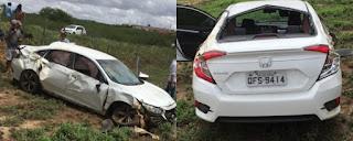Advogado de Rogério Carvalho sofre acidente no Sertão