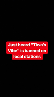 'Tiwa's Vibes' Gets Banned, Tiwas Savage Reacts