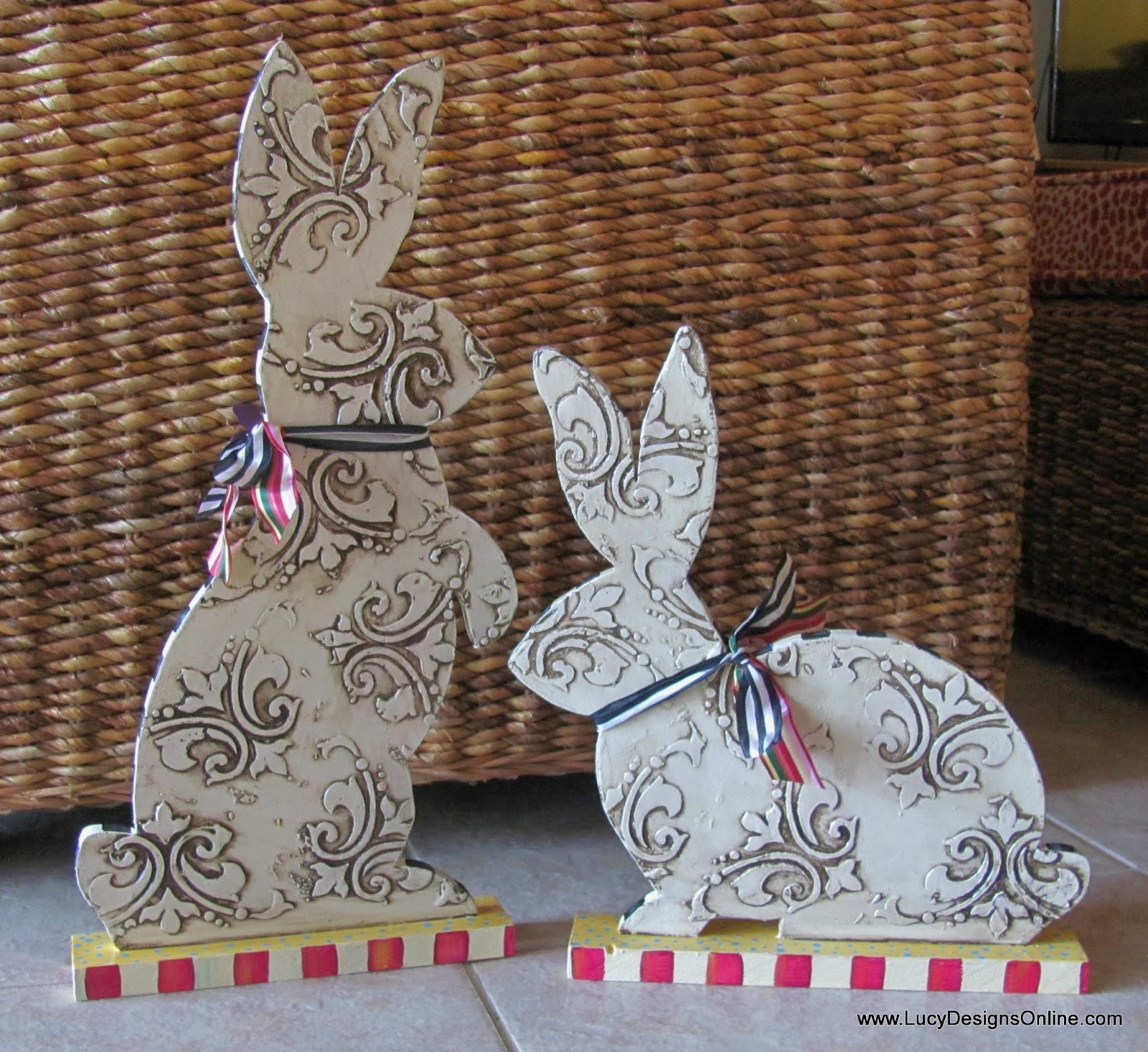 hand painted textured bunny Easter