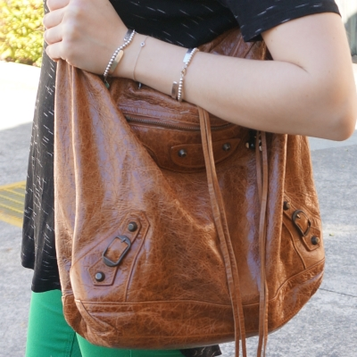 Balenciaga truffle brown day hobo bag classic RH | away from the blue