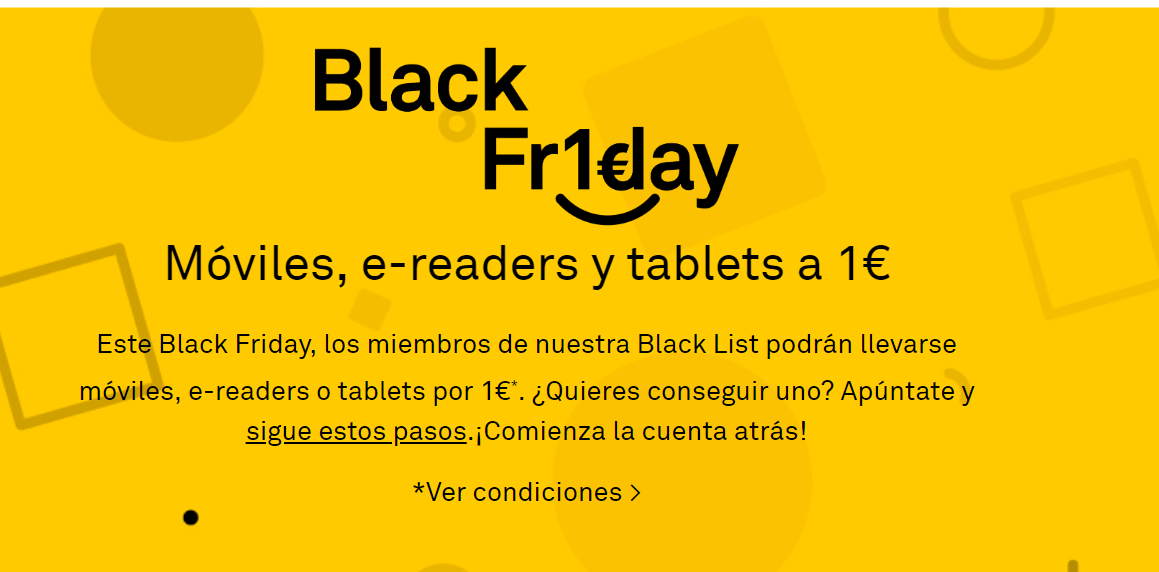 Bq cambia las condiciones del Black Friday 2018