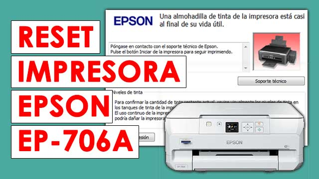 resetear almohadillas impresora Epson EP706A