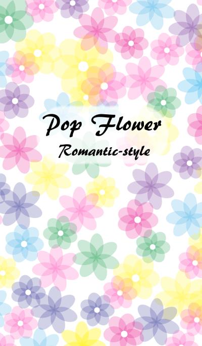 Pop flower Romantic-style