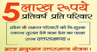 Atal Ayushman Uttarakhand Yojana Online Registration ki Jankari