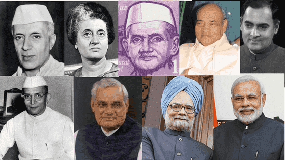prime minister of India list