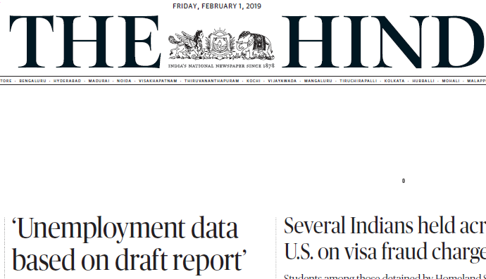 The Hindu ePaper Download 1st February 2019