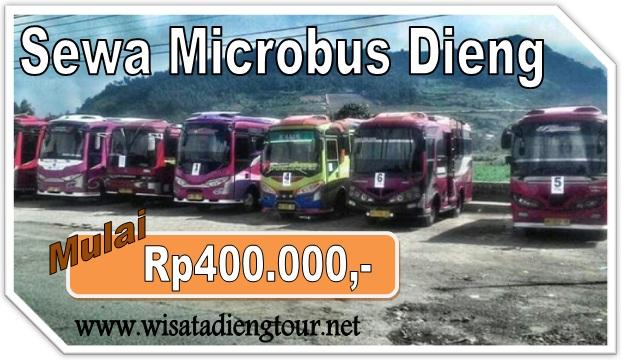 brosur harga sewa microbus wonosobo dieng