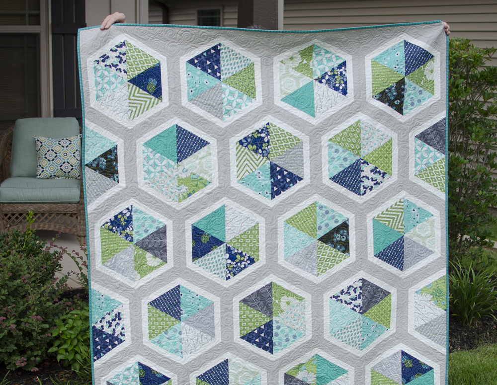Hyacinth Quilt Designs: Triangle Hexies Quilt : hyacinth quilt designs - Adamdwight.com