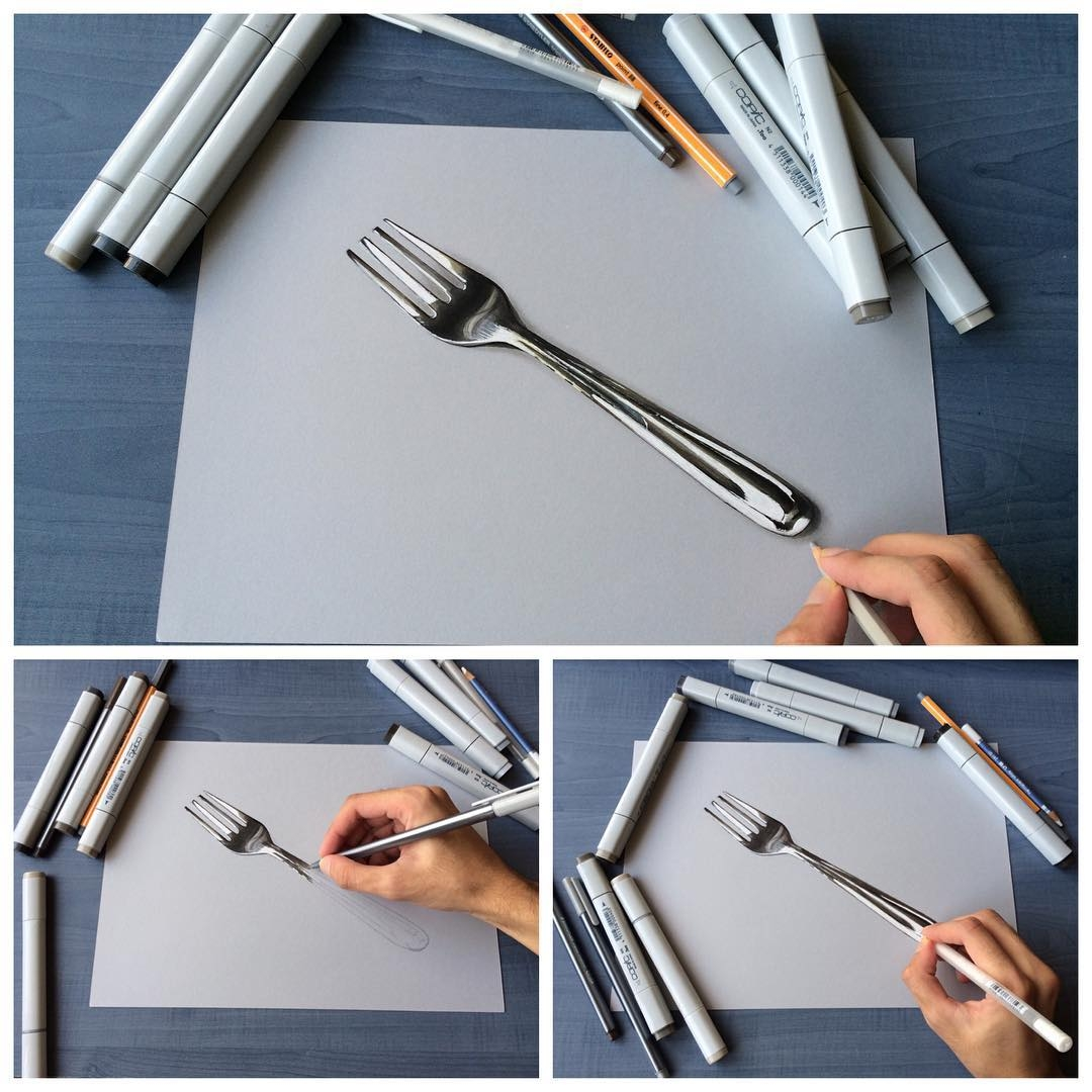 11-Stainless-Steel-Fork-Sushant-S-Rane-Constructing-3D-Drawings-one-Section-at-the-Time-www-designstack-co