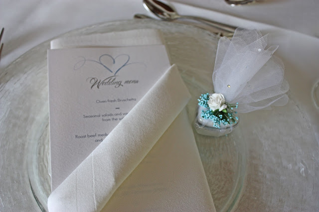 Wedding favors heart-shaped boxes - Wedding dinner in blue and cream white at lake Riessersee Hotel, wedding venue in Garmisch, Bavaria, Germany, lake terrace #wedding venue #wedding abroad #Bavaria #Germany #Riessersee at lake Riessersee Hotel, wedding venue in Garmisch, Bavaria, Germany, lake terrace #wedding venue #wedding abroad #Bavaria #Germany #Riessersee