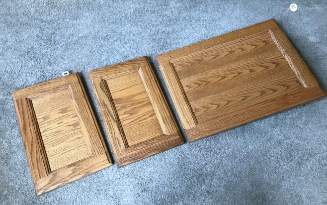 cupboard doors ready to make a lap desk