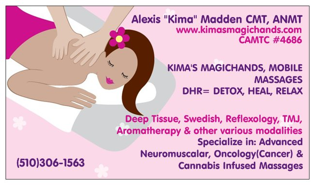 Kima's Magichands, Mobile Massages