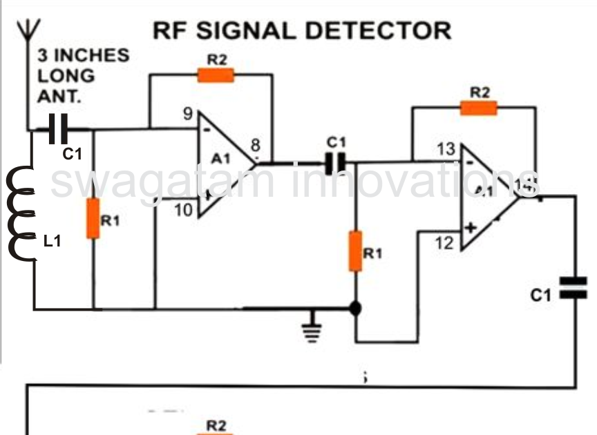 Sensitive Rf Voltmeter Probe Circuit Diagram