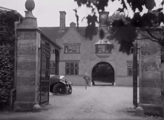 Scene from the 1932 film Wedding Rehearsal shot at North Mymms House