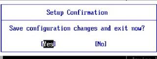 Setup Confirmation booting