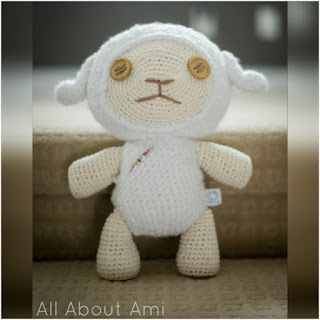 patron amigurumi Ovejita all about ami