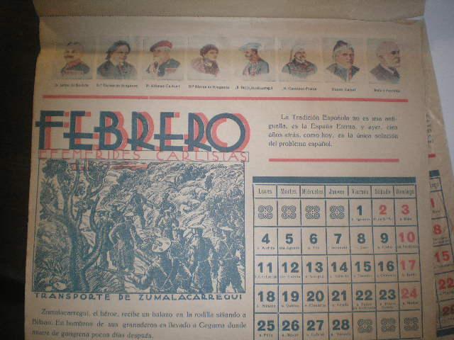 Calendario 1929.Carlistas Historia Y Cultura Calendario Carlista De 1929