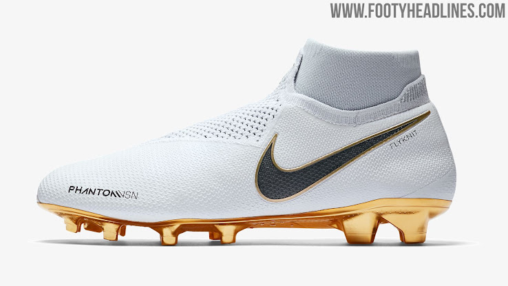 d32a3b0ceb4c White / Gold Nike Phantom Vision Limited-Edition Boots Launched ...