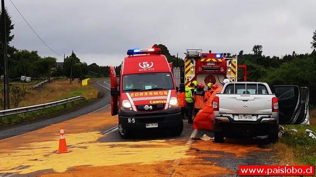 Accidente vehícular deja 4 fallecidos y tres personas graves en Ruta 5 Sur