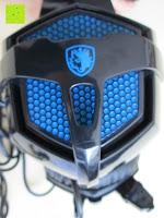 Muschel außen: LIHAO Sades SA-738 Spiel Kopfhörer Stereo USB Gaming Headset mit Mikrofon Blau LED Leuchte mit Sades Retail Geschenk Verpackung