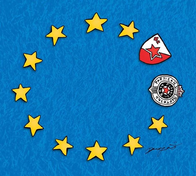 Umetnički prikaz plasmana Zvezde i Partizana u Ligu Evrope! (FOTO)