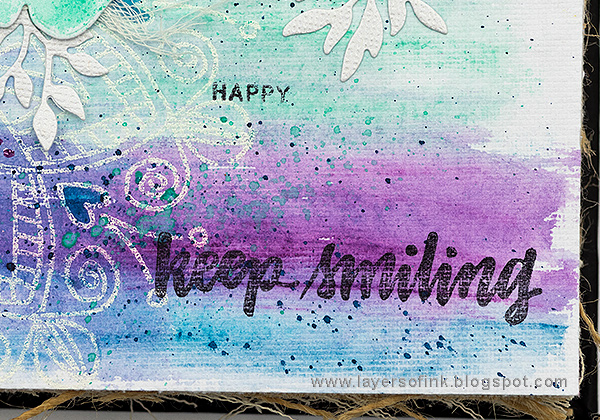 Layers of ink - Forget me not journal page tutorial by Anna-Karin