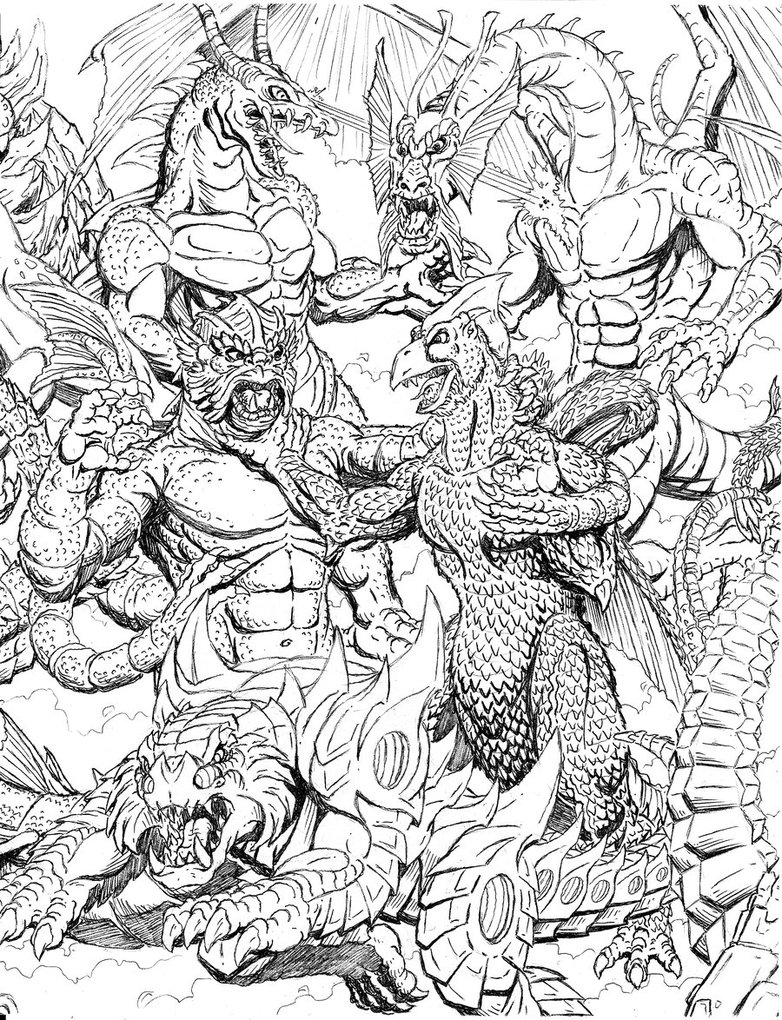 Kaiju Battle Saturday Showcase Cool Kaiju Sketch Art