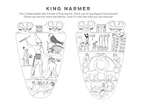 King Narmer coloring page activity