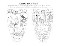 King Narmer coloring page activity