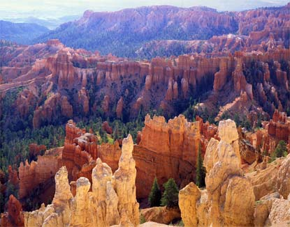 The hoodoos at Bryce Canyon are best explained through Genesis Flood geology as well as subsequent geologic processes.