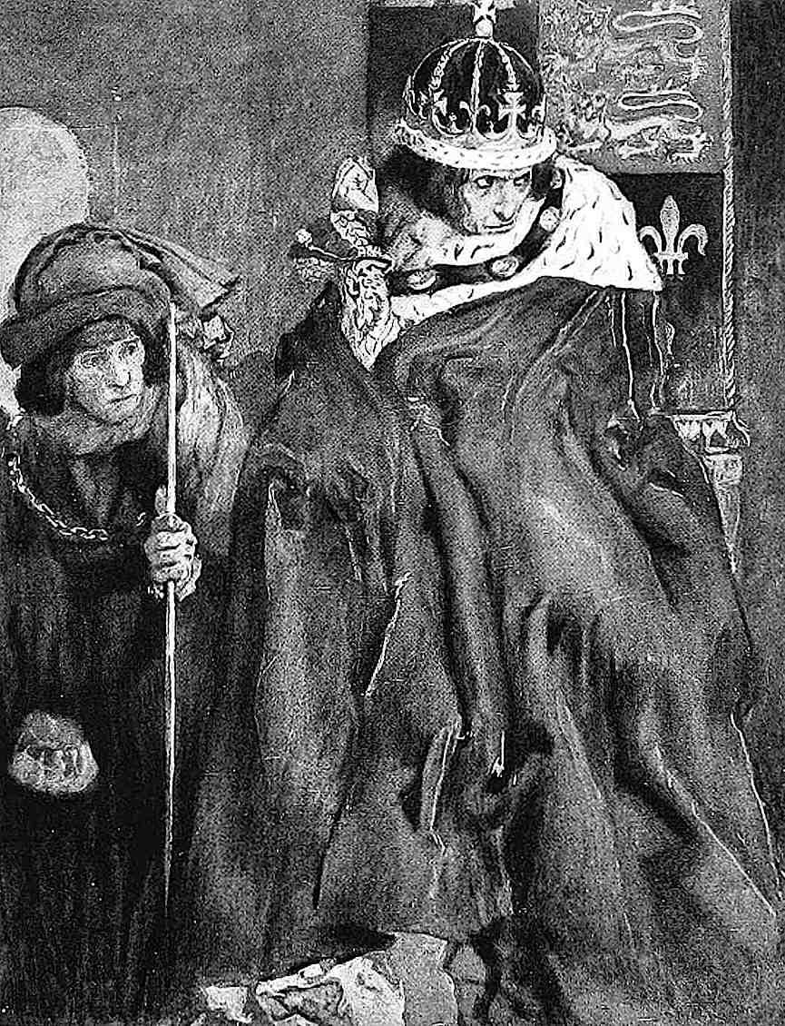 Edwin Austin Abbey, mad king, sick king