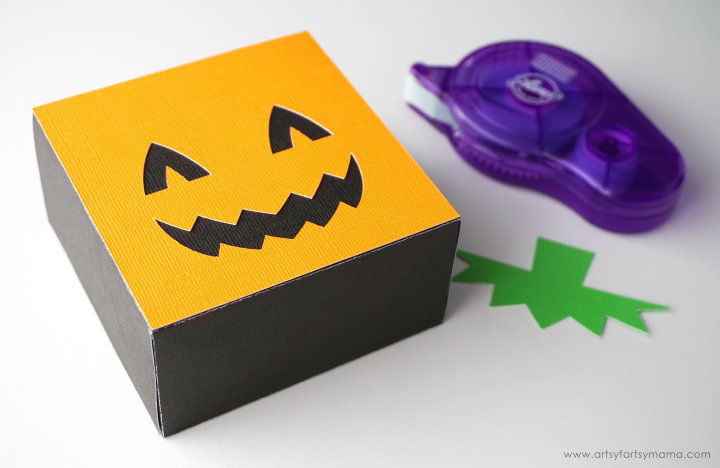 Halloween Pumpkin Character Treat Bag made with Cricut Maker #CricutMade
