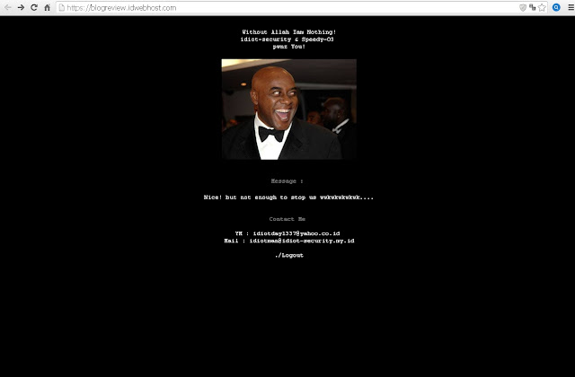 Subdomain Situs Penyedia Hosting IDWEBHOST Diretas