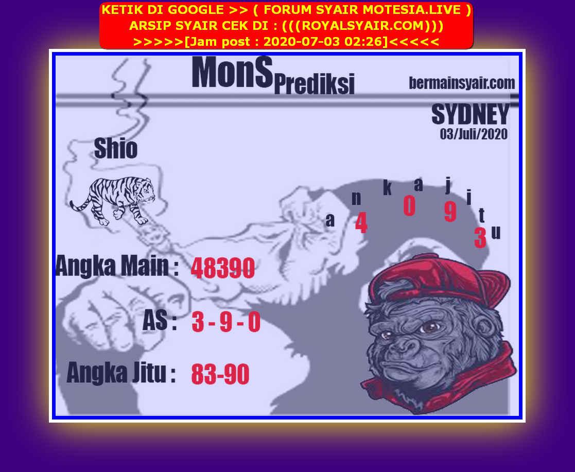Kode syair Sydney Jumat 3 Juli 2020 222