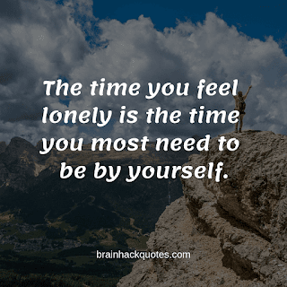 Being Alone Quotes - Brain Hack Quotes