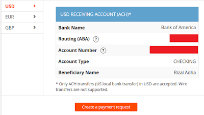 Rekening Bank Payoneer