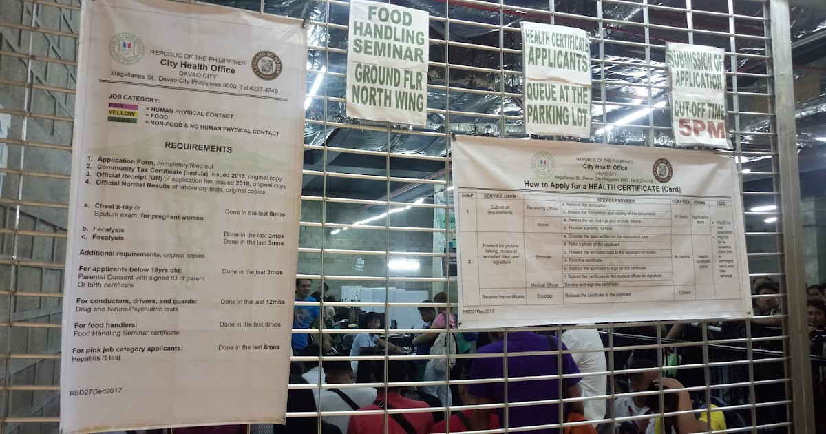 Getting A Health Certificate In Davao City