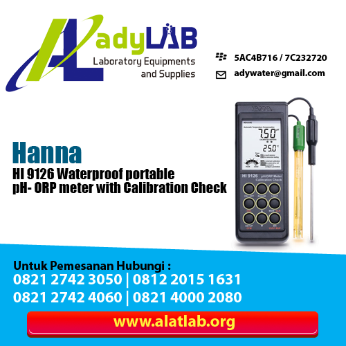 HI 9125 Waterproof, portable pH/ORP meter with Calibration Check™