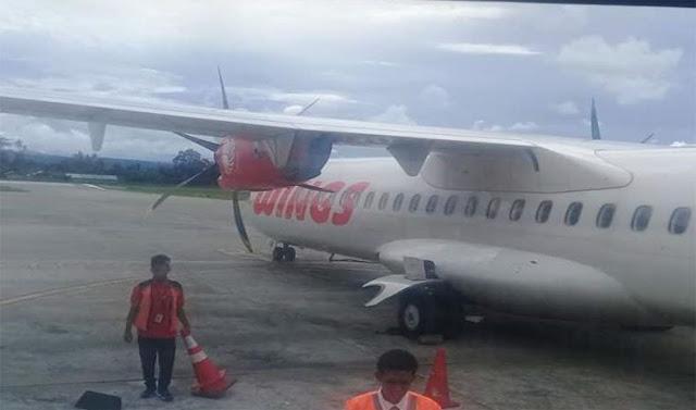 Terbang 15 Menit, Pesawat Wings Air Kembali ke Bandara akibat Pintu Rusak