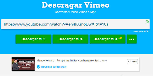 Vimeotomp3, the best tool to download music and movies
