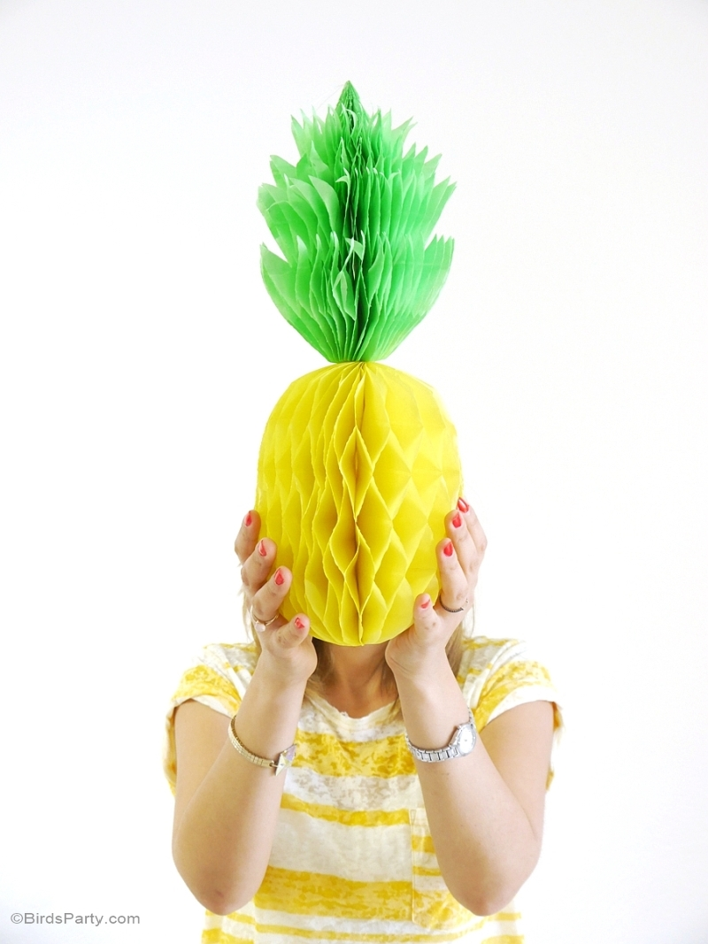 Party Like a Pineapple Birthday DIY Photo Booth Prop - BirdsParty.com