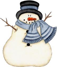 Muñeco de nieve con gran narizota de zanahoria